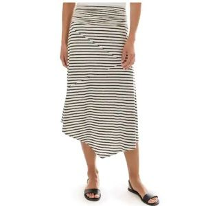 NWT! Apt. 9 Asymmetric Skirt in black/ivory